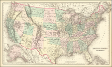 United States Map By O.W. Gray
