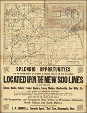 Minnesota Map By Soo Line