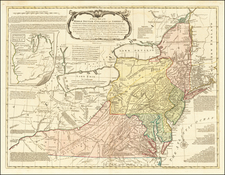 A General Map of the Middle British Colonies In America, viz. Virginia, Maryland, Delaware, Pennsylvania, New Jersey, New York, Connecticut, & Rhode Island of Aquanishuonigy the Country of the Confederate Indians . . . Ohio & Thuchoschruntie their Deer Hunting Countries . . .  By Lewis Evans / John Bowles