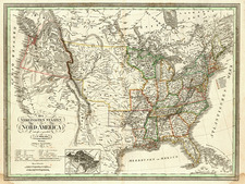 United States Map By Carl Ferdinand Weiland