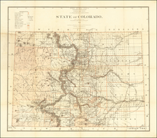 Colorado and Colorado Map By U.S. General Land Office