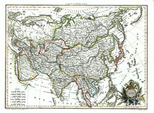 Asia and Asia Map By Conrad Malte-Brun