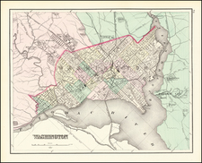 Washington, D.C. Map By O.W. Gray