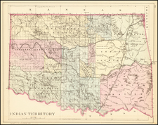 Oklahoma & Indian Territory Map By Samuel Augustus Mitchell Jr.