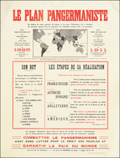 World, Europe and Pictorial Maps Map By Typographie Ad. Maréchal
