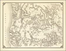 Utah, Nevada, Idaho, Montana, Utah, Oregon and Washington Map By Sylvanus C. Harris