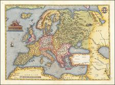 Europe Map By Abraham Ortelius