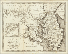 The States of Maryland and Delaware from the latest Surveys 1799 By John Payne