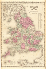 England and Wales Map By G.W.  & C.B. Colton