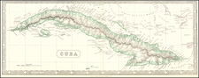 Cuba Map By George Philip & Son