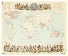 World Map By Archibald Fullarton & Co.