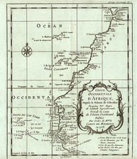 Africa and West Africa Map By Jacques Nicolas Bellin