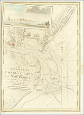 South Carolina and American Revolution Map By Joseph Frederick Wallet Des Barres
