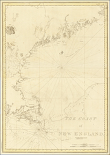 Maine Map By Joseph Frederick Wallet Des Barres