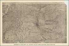 Washington Map By Edward Lange