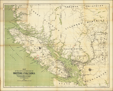 Canada and British Columbia Map By Department of Lands and Works