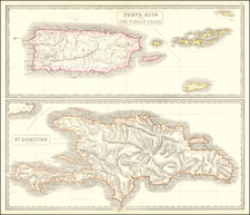 Hispaniola, Puerto Rico and Virgin Islands Map By George Philip & Son
