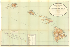 Hawaii and Hawaii Map By U.S. General Land Office