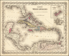 Caribbean Map By G.W.  & C.B. Colton
