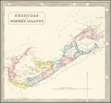Bermuda Map By George Philip & Son