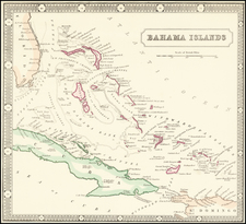 Bahamas Map By George Philip & Son