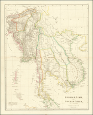 Southeast Asia, Malaysia and Thailand, Cambodia, Vietnam Map By John Arrowsmith