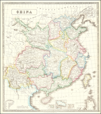 China and Hong Kong Map By George Philip & Son