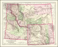 Idaho, Montana and Wyoming Map By O.W. Gray