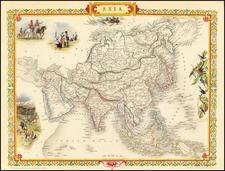 Asia Map By John Tallis