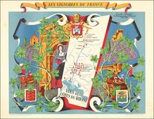 Pictorial Maps and Sud et Alpes Française Map By Remy Hetreau