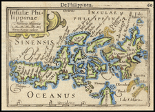 Philippines Map By Petrus Bertius