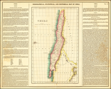 Chile Map By Henry Charles Carey  &  Isaac Lea