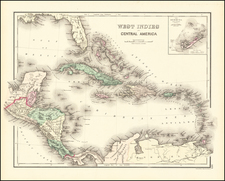 Caribbean and Bermuda Map By OW Gray