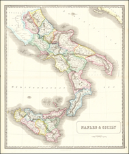 Southern Italy and Sicily Map By George Philip & Son
