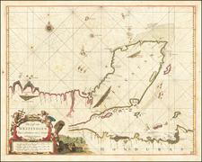 (Yucatan) De Cust van Westindien Van C. Honduras, tot C. Serra By Arent Roggeveen / Jacobus Robijn