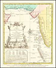 India and Middle East Map By J.V. Schley