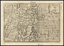 China, Korea, Southeast Asia and Philippines Map By Petrus Bertius