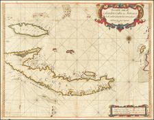 Cuba, Jamaica and Other Islands Map By Arent Roggeveen / Jacobus Robijn