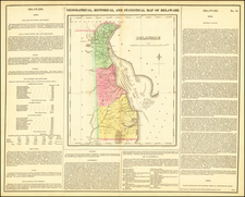 Delaware Map By Henry Charles Carey  &  Isaac Lea