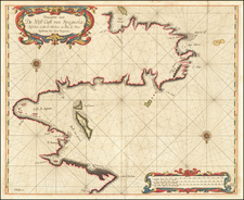 Hispaniola Map By Arent Roggeveen / Jacobus Robijn