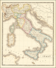 Italy Map By George Philip & Son