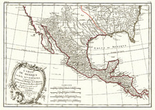 South, Southeast, Southwest and Mexico Map By Rigobert Bonne