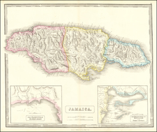 Jamaica Map By George Philip & Son
