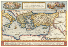 Greece, Mediterranean, Middle East, Holy Land and Turkey & Asia Minor Map By Abraham Ortelius