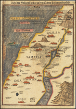 Holy Land Map By Heinrich Bunting