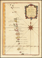 India and Other Islands Map By Jacques Nicolas Bellin
