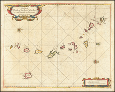 Caribbean and Other Islands Map By Arent Roggeveen / Jacobus Robijn