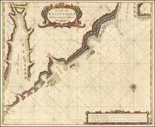 Central America and Colombia Map By Arent Roggeveen / Jacobus Robijn