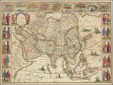 Asia Map By Willem Janszoon Blaeu
