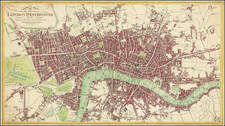London Map By Thomas Tegg